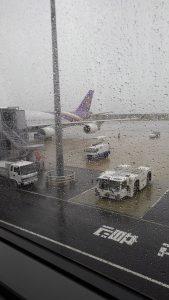 台風前の関空
