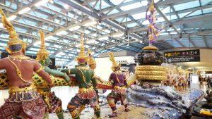 タイ空港から出国