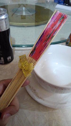 カンボジア 結婚式 披露宴 扇子