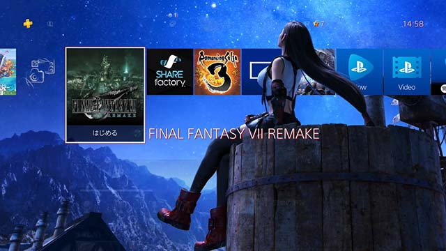 PS4 テーマ FF7リメイク ティファ 設定