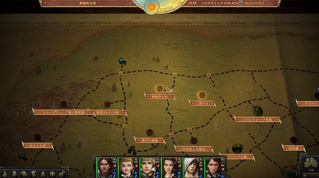 パスファインダー キングメーカー 貪欲な女王 神秘的な社 4カ所目 地図上の場所