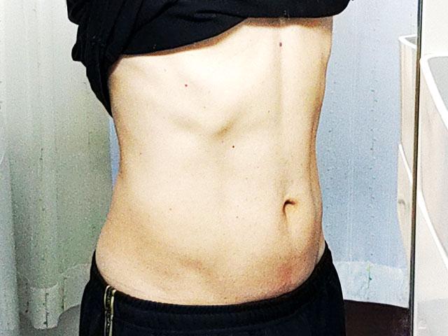リングフィット 腹筋具合 After 斜め